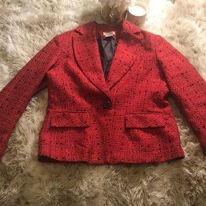 Worthington Red Blazer Coat